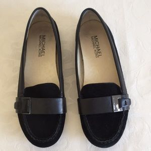 Michael Kors black suede loafers